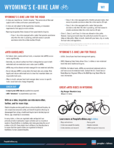 Wyoming E Bike Laws. Click to view the PDF.